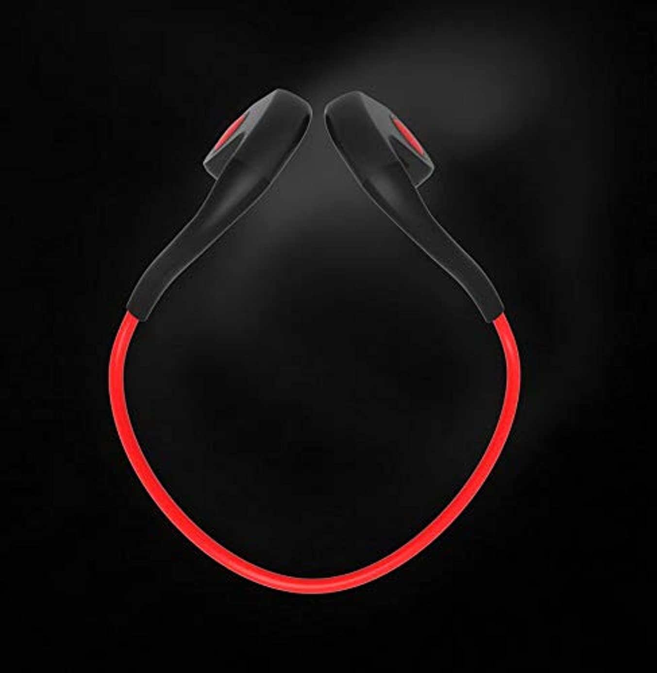 VCB BRAND Bone Conduction Headset Memory Cable Waterproof Movement - Red gnn1086051