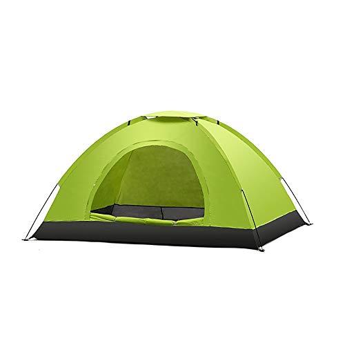 Zhengowen Tente 2 Personnes Tente Tentes Igloo Camping avec Sac de Transport par l'extérieur Matériel de Camping Tente dôme extérieur (Couleur : Vert)