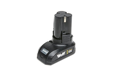 Wolf Professional 18v Cordless Power Tools Spare Lithium Ion Battery for Drill Driver & Impact Driver (105998)