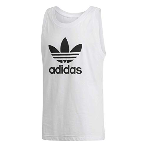 adidas Originals Men's Trefoil Tank Top, White, Medium