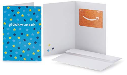 Amazon.de Geschenkkarte in Grußkarte - 10 EUR (Glückwunsch Sterne)