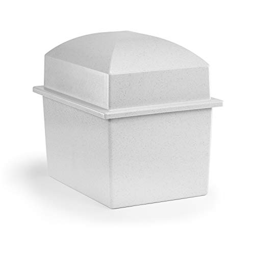 Crowne Vault Companion Urn Vault for Ground Burial | Holds Two Adult Cremation Urns for Human Ashes | Marquis (Granite Grey)
