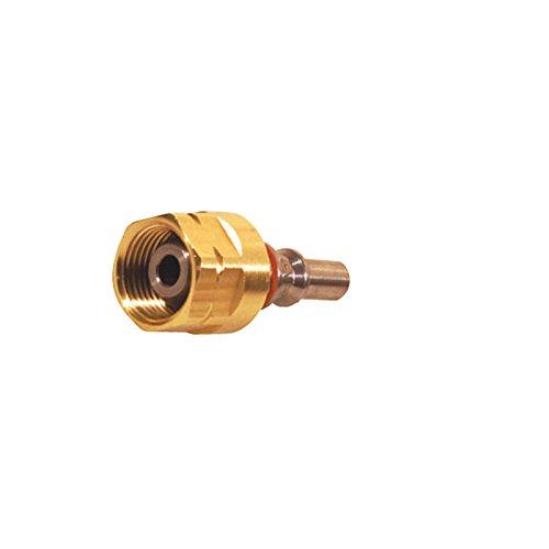 IBEDA Kupplungsstift D1 aus Edelstahl mit Messing-Überwurfmutter für DKD, DKG und DKT Schlauchkupplungen für Brenngase, Sauerstoff und Inerte Gase, Ausführung:Brenngas G 3/8'' LH