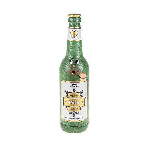 Colours-Manufaktur Räucherflasche - Räucherfigur Räuchermännchen Räuchergefäß Bier Sekt Bierflasche Jubiläum Vatertag Muttertag (Longneck 0,5 - Bester Papa, grün)