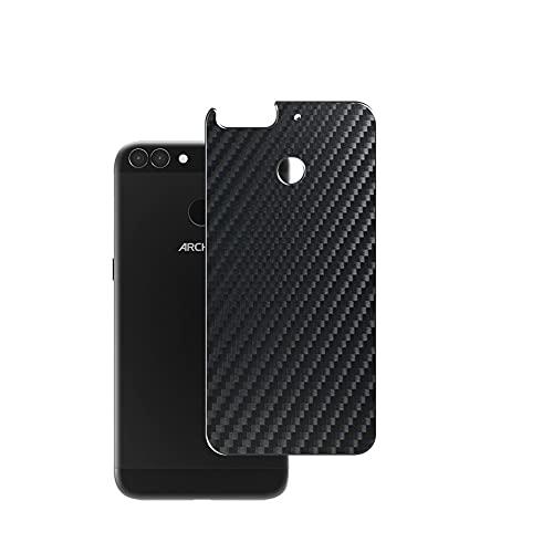 Vaxson 2 Stück Rückseite Schutzfolie, kompatibel mit ARCHOS 55 Graphite, Schwarz Backcover Skin Cover Haut [nicht Bildschirmschutzfolie Hülle Hülle ]