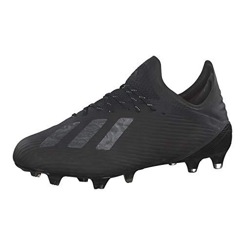 adidas Herren X 19.1 Firm Ground Fußballschuh, CBLACK/CBLACK/SILVMT, 42 EU