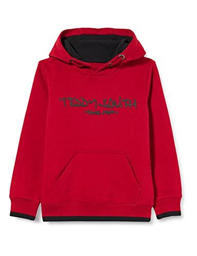 Teddy Smith Boys' Siclass Hoody Jr Sweatshirt à capuche - Classic carmine red - Taille 10 ans