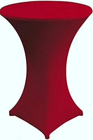 Gastro Uzal Hussen für Stehtische und Bistrotische Stretch Stehtischhussen Größen (Rot, Ø 80-85 cm)