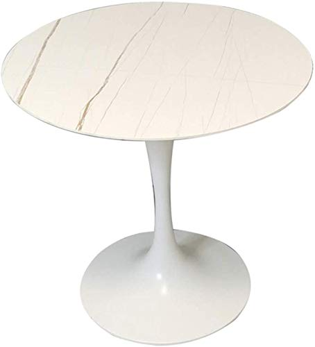 HZWLF Furniture Feet, Small Household Dining Tables, Round Tulip Tables In The Reception Negotiation Cafeteria, With A Load Capacity Of 300Kg