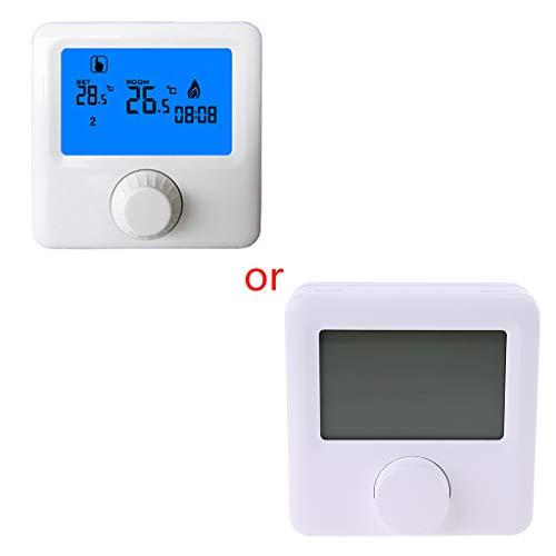 XUNHUAN Pantalla Termostato de Caldera de Gas suspendido Semanalmente Programable Calefacción de habitación Termostato Controlador Digital de Temperatura