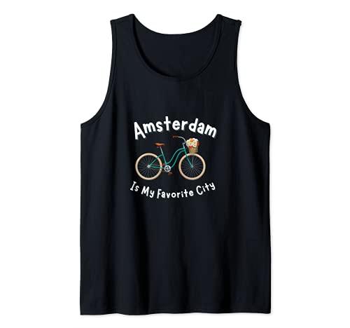 Amsterdam Bike Retro Maglia Da Ciclismo Olanda Canotta