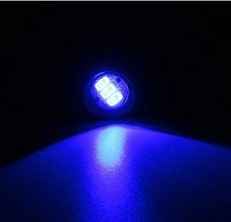 MOMOALA Paire Moto LED Hawkeye Lumière Constante Miroir Mont Aigle Oeil Feux De Circulation Feux Arrière-Bleu