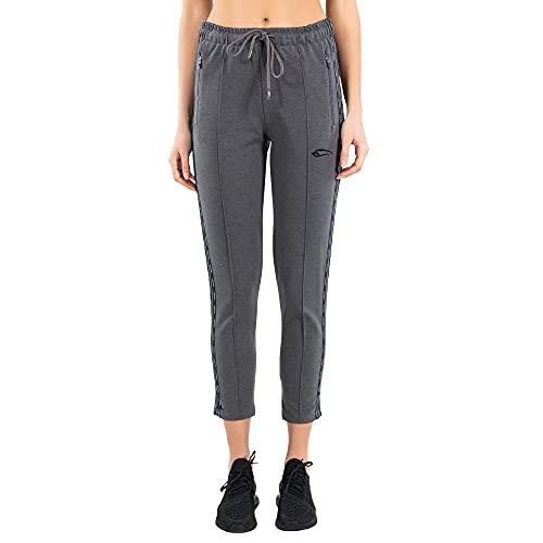 SMILODOX Damen Jogginghose Carry - Lange Hose im Slim fit mit mid Waist Bund und Tunnelzug, Größe:XS, Color:Anthrazit