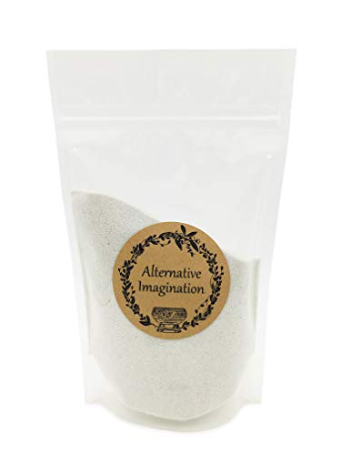 Alternative Imagination 1 Pound of White, Fine Colored Sand for Incense Burners, Crafts, Sand Gardens, Unity Sand, Decoration, and More