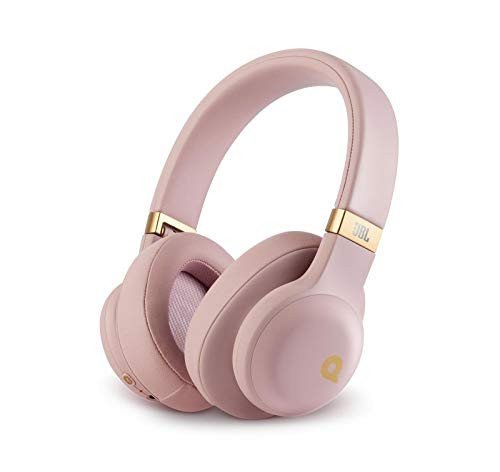 JBL E55BT Quincy Edition Wireless Over-Ear Headphones with One-Button Remote and Mic (Rose Gold) (Certified Refurbished)