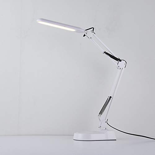 HLONGG Lámpara De Escritorio LED Linterna De Rockero con Accesorios De Protección Ocular Luz, Moderno Arquitecto Reloj 3 Modos De Color, 12W Negro,Blanco,9W