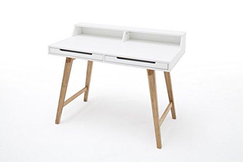 Robas Lund, Tisch, Schreibtisch, Tiffy, Buche/matt weiß, 58 x 110 x 85 cm, 40133WB7