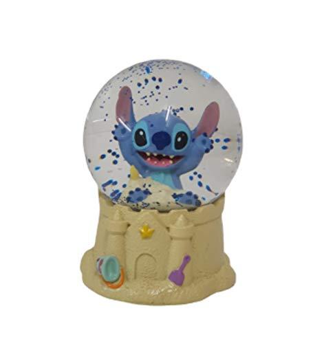 Disney Lilo & Stitch Snow Globe Sandcastle Glitter Ornament Gift Box