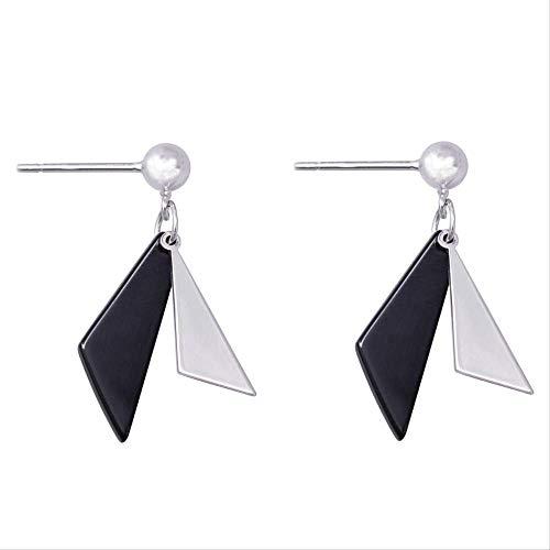 Pendientes De Plata De Ley 925,Aretes Pendientes Mujer Moda Simple Triángulo Geométrico...