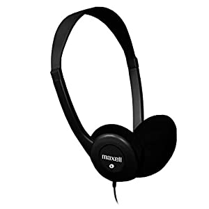 Maxell 190319 Stereo Headphone, Black (Packaging May Vary)