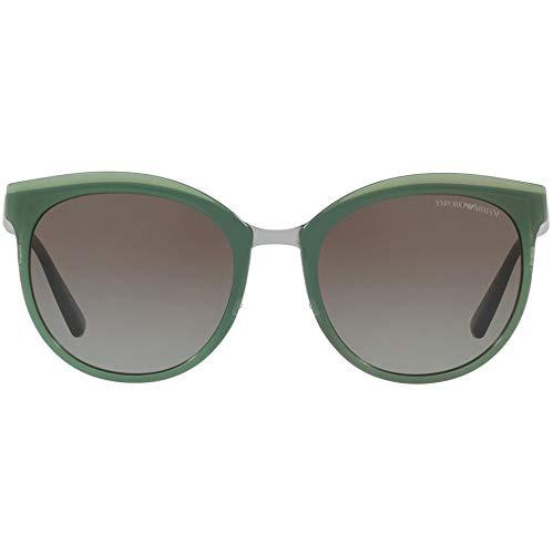 Emporio Armani 0EA2055 32068E 55 Occhiali da Sole, Verde (Opal Light Green/Greengradient), Donna