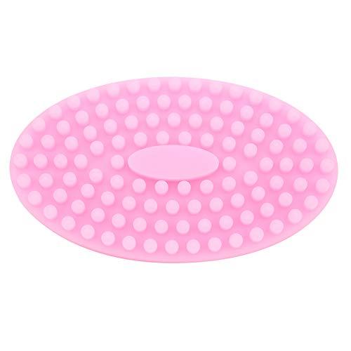 Cepillo de masaje de silicona, cepillo de masaje suave, insípido, suave, seguro, resistente al agua, apto para la piel para adultos, masaje corporal, masaje del cuero cabelludo, bebé(Pink)