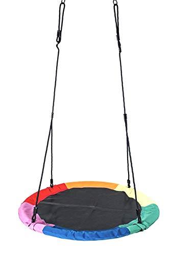 Columpio de jardín de 110 cm, columpio redondo, hasta 150 kg (6 colores)