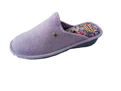 Zapatillas de Estar por casa/De Mujer/Biorelax/Primavera-Verano/Mod. Cuña 3 cms/Color Lila/Talla 41