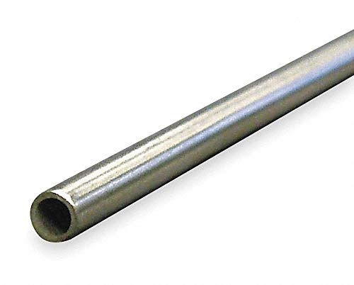 Tubing, Welded, 1/4 In, 6 ft, 304 SS