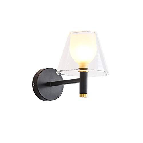 Aplique de Pared Lámpara de pared personalizada Lámpara de pared Fondo Minimalista creativo Lámpara de pared de vidrio Dormitorio de vidrio Pared G9 G9 Wall Sconce Iluminación Lámpara de pared