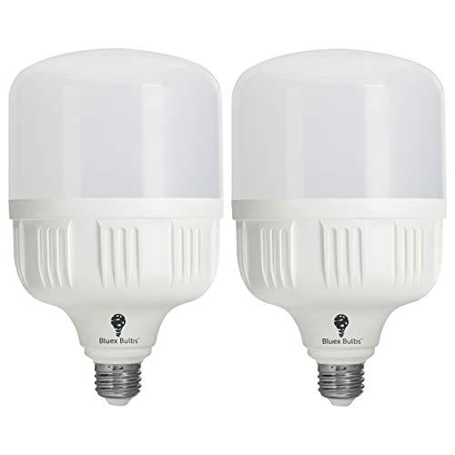 2 Pack BlueX 300W Bulb - 350W Bulb Equivalent, 40W LED Corn Light Bulb Cool White 5000K E26 Base 4000 Lumens 300 Watt Light Bulb, High Watt Commercial