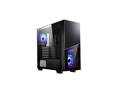 MSI 306-7G06R11-W57 - MPG SEKIRA 100R Mid-Tower - Caja de PC Gaming (4 x 120 mm ARGB Ventiladores, USB 3.2 Gen2 Type-C, E-ATX, ATX, M-ATX, Mini-ITX, Ventana Cristal Templado, Filtro Polvo magnético)