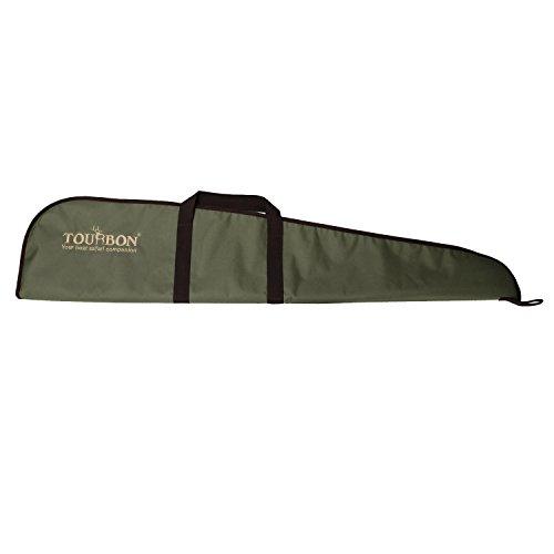 Tourbon Caza Escopeta Gun Rifle Bolsa de Almacenamiento con Correa de Hombro Ajustable - Verde con Brown Trim (Rifle)