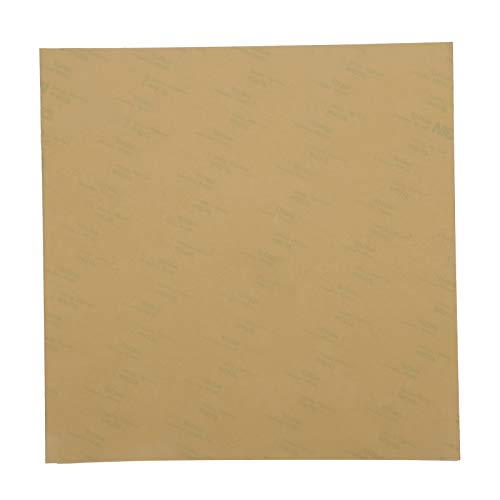 3D Printer PEI Film High Strength 3D Printer PEI Adhesive PEI Film Cotton Polyetherimide Build Plates 3 Sizes for Heating Bed Parts of 3D Printer(220 * 220mm)