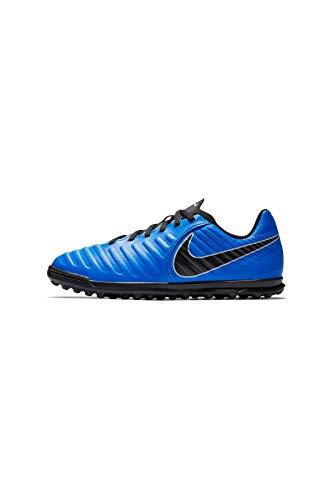 Nike Jr Legend 7 Club TF, Zapatillas de fútbol Sala Unisex Adulto, Multicolor (Racer Blue/Black-Wolf Grey 400), 37.5 EU