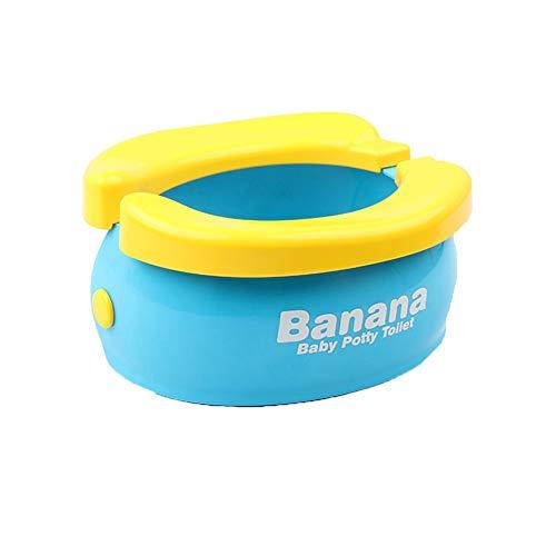NROCF Formation Potty Seat - Banana Mignon Toilettes Pliant Portable pour Enfants Bébés Garçons, avec 20 Sacs De Rechange À Usage Unique,Nobrush