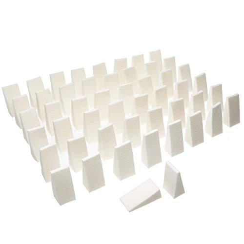 Fantasia 21010 - Confezione di 50 spugnette da trucco, colore bianco
