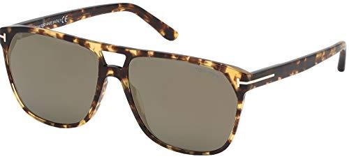 Sunglasses Tom Ford FT 0679 Shelton 56C Shiny Vintage Havana/Smoke W. Bronze F