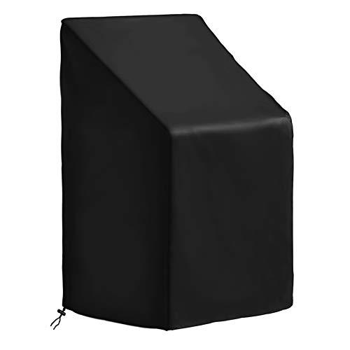 CYWEB Funda Sillas Apilables Jardin, Impermeable Cubierta Protectora para Sillas de Exterior Balcón Anti-UV Tela Oxford 420D, 65 x 65 x 120/80 cm