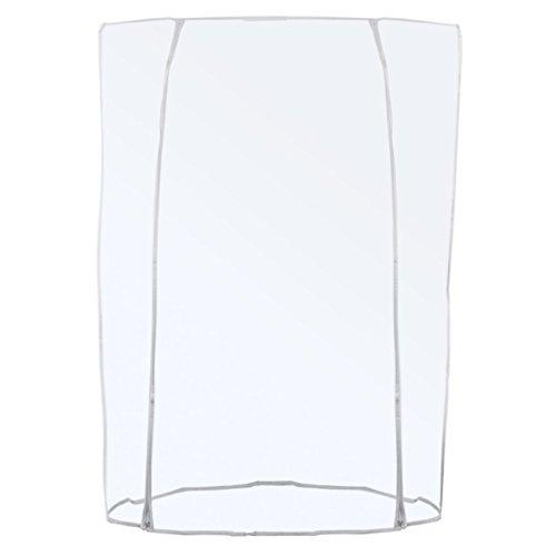 GERSO Transparente Abdeckhaube für Konfektionsständer - Doppel-Reißverschluss Länge 120/150/180cm (120cm)