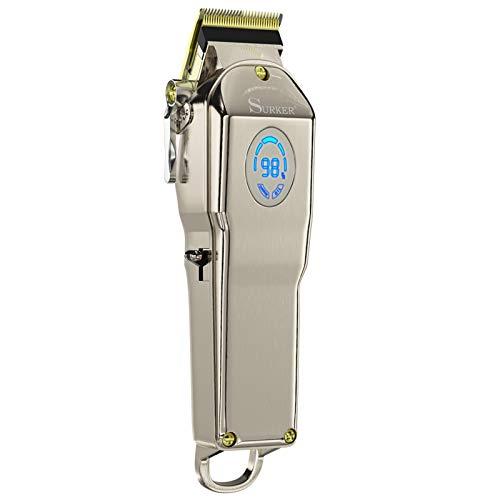homeasy Haarschneider Maschine SET 0mm Rasierer Haare Kabelloser Haartrimmer Profi Elektrischer Haarscherer mit Aufsatzkämmer von 0,8 bis 17mm für Erwachsene und Kinder