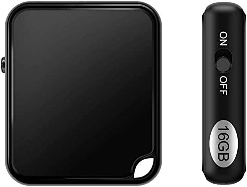 16GB Mini Grabadora de Voz Profesional, Grabadora Microfono Espia Portátil con Activación de Voz y Carga USB, HD Grabadora de Audio Ideal para Clases, Reuniones, Entrevistas, hasta 284 Horas