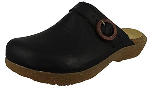 El Naturalista Femme Sabots WAKATIWAI, Dame Mules,Pantoufles,Slides,Chausson,Chaussure de Jardin,Semelle à Plateforme,Noir (Black),36 EU / 3 UK