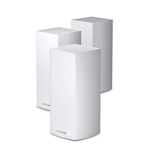 Linksys MX12600 Velop Tri-Band WiFi 6-Mesh (AX4200 - Enrutador/extensor inalámbrico para una conexión inalámbrica de hasta 830 m² y 3,5 velocidad para más de 120 dispositivos, 3 unidades)