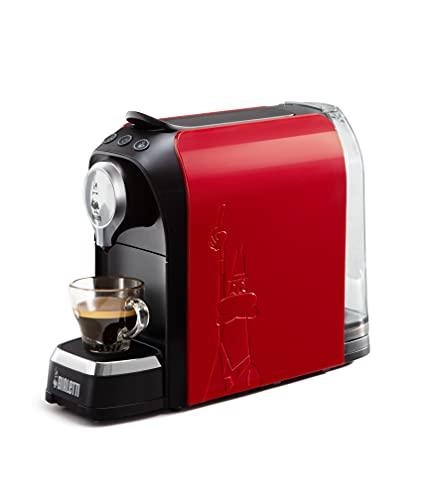 Bialetti Elettrico Super, Macchina da Caffè Espresso per Capsule in Alluminio sistema Bialetti il Caffè d'Italia, Rosso