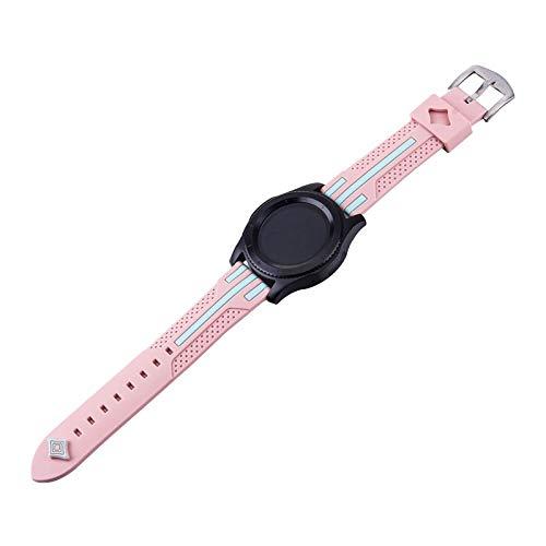 HGGFA Banda para Gear S3 Frontier Strap para Samsung Galaxy Watch 46mm para Amazfit BIP para Huawei Watch GT 2E Strap Sport 22mm Watch Accesorios de Reloj 47mm