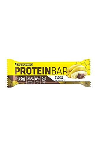 Sportnahrung.de Proteinbar - der hochwertige, leckere Eiweiß Riegel Snack für unterwegs - zur optimalen Unterstützung von Muskelaufbau und -erhalt - 55g (Schoko-Banane)