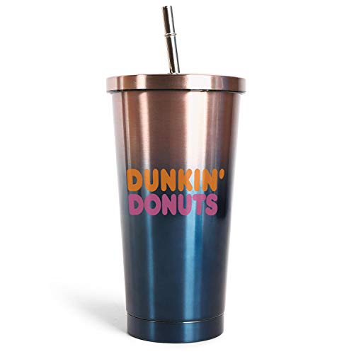 Dunkin-Donuts-Coffee-Logo- Iced Coffee Cup, Gifts for Womens Drinks 17OZ