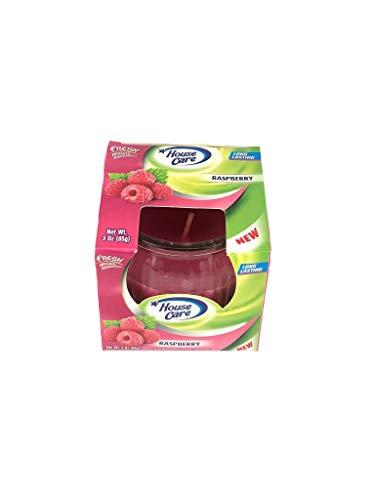 DecorRack Raspberry Scented Candle, 3 oz Candles, Pleasant Fragrances, Air Freshener, Raspberry (1 Pack)