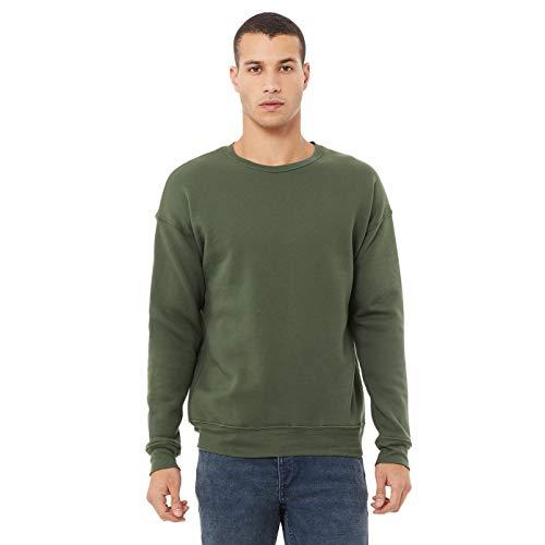 Bella + Canvas Unisex Adult Fleece Drop Shoulder Sweatshirt (S) (Military Green)